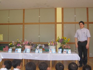 花の日の礼拝をみんなで守りました。