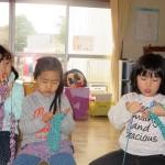 つばめ組の編み物