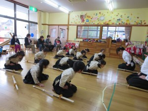 剣道の発表会がありました。