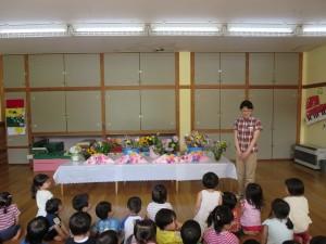 花の日礼拝・慰問がありました