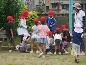 旭小学校との交流会がありました。