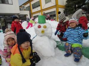 雪遊びだ☆彡