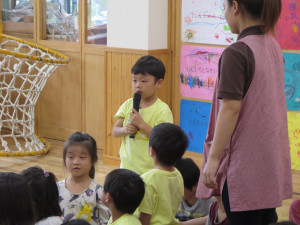 実習生さんのお別れ会がありました。