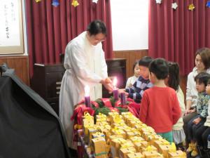 クリスマス礼拝・人形劇・会食がありました。