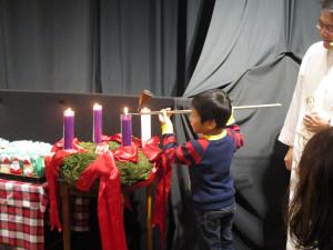 クリスマス礼拝、人形劇、祝会、会食がありました!