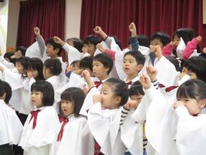 幼稚園クリスマス会がありました!