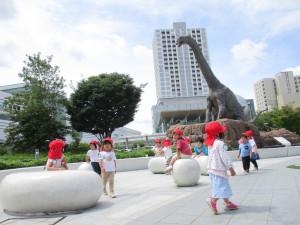 駅前の恐竜をみてきました!